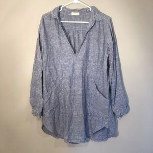 CP Shades   100% Linen Tunic Top Sz S